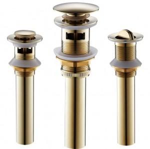 Scarichi in oro rosa massiccio ottone bagno lavabo rubinetto nave vanità lavello pop-up tappo di scarico con troppopieno accessori XSQ1-5