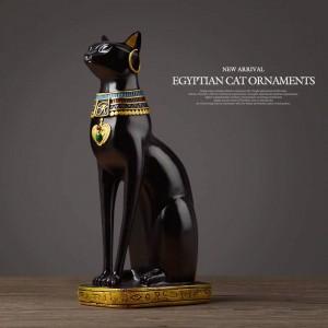 Gatto egiziano resina artigianale decorazioni per la casa d'epoca moderna Baster dea dea dio faraone figurina statua per ornamenti da tavola regalo