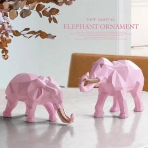 Statuetta elefante 2 / set resina per home office decorazione hotel da tavolo animale moderno artigianato India bianco Elefante decorazione statua