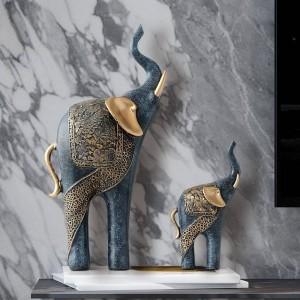 Figurina di elefante ambientata a casa decorazione di nozze di lusso antico arredamento per la casa regalo di Natale fortunato da ornamenti statua in resina casa