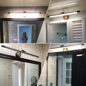 Fari a specchio in rame UE per lampada da bagno a LED per mobili Applique per trucco americano Appendiabiti da parete per toilette da casa Deco