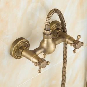 Euro design kit bronzo antico doccia intelligente bagno vasca rubinetto doccia doccetta