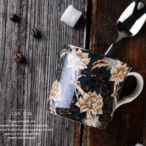 Tazza classica in osso Europa Corte inglese Tazza da vento Tazza da caffè Tazze da latte Tazza da viaggio tazza da viaggio maniglia Tazza da acqua Bicchieri da 300 ml