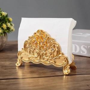 Stile europeo Tavolo Tissue Holder Tovagliolo Stand Metallo Artigianato Decorazione della casa Ristorante dell'hotel Desktop Cafe Ornamenti Regalo