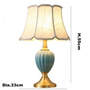 Europa zebra strisce lampade da tavolo in ceramica foyer decorazione comodino luce panno bianco paralume studio apparecchio di lettura a LED
