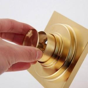 Scarico a pavimento in stile europeo placcato oro Deodorante scarico a pavimento in rame bagno doccia lavatrice scarico a pavimento XSQ1-22