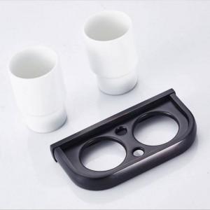 Accessori per il bagno europeo spazzolino collutorio rame nero antico doppio portabicchieri portabicchieri in ceramica 9024K