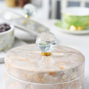 Scatola di caramelle in ceramica europea Scatola di immagazzinaggio per la casa Snack Regali di frutta secca