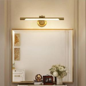 Lampada europea a specchio in rame per bagno Lampade a LED per armadi Moda trucco Hanglamp Home Deco Toilet Wall Sconce Light Fixtures