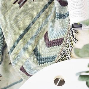 Geometria europea Coperta Coperta Caffè Divano Fodera Decorativa Cobertor su Divano Viaggio Coperte da cucire antiscivolo Natale