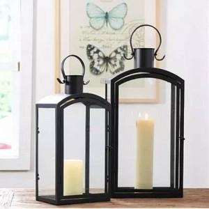Decorazione moderna minimalista europea per esterno in ferro candeliere in ferro da giardino lampada da vento puntelli per matrimoni decorazione della stanza modello