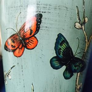 Vaso tempio europeo farfalla Vaso modello Decorazione artigianale Vaso portaoggetti Vaso in porcellana vaso di ceramica