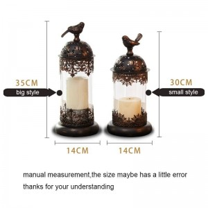 Portacandele stile europeo Romantico a lume di candela Forniture per cena Luce notturna Candeliere in ferro Luce del vento Decorazione Art Crafts
