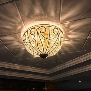 Plafoniere country in stile europeo Lampada da salotto in ferro vintage illuminazione ristorante lampada da camera rustica plafoniera in cristallo