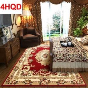 Stile europeo salotto tavolino tappeto camera da letto comodino tappeto moderno minimalista flusso manuale taglio tridimensionale