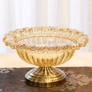 Decorazione creativa del piatto di frutta della decorazione molle domestica della ciotola di frutta di cristallo del salone europeo di stile