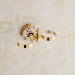 Portaspazzolino di lusso in stile europeo, portabicchieri, portabicchieri, doppio portabicchieri, accessori per il bagno 9089K