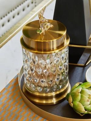 Barattoli di zucchero di cristallo trasparenti europei Utensili per serbatoi di stoccaggio Creativi barattoli di zucchero Decorazioni per soggiorno Ornamenti