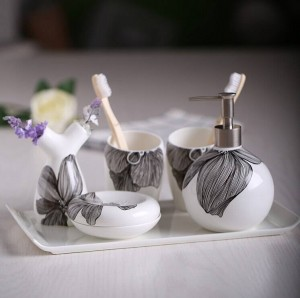 Set di articoli da toeletta da bagno di moda Set da bagno shukoubei kit pallet in ceramica dentale Portasapone Porta spazzolino