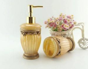 Set da bagno in resina di qualità di moda cinque pezzi set kit sanitari set da bagno set da bagno Portasapone bello