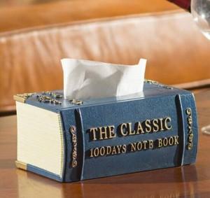 Tubo dell'asciugamano di carta della scatola di pompaggio del tessuto della scatola della resina di stile dei libri d'annata di modo