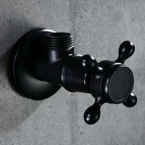 Rubinetto Parti di ricambio Valvola ad angolo in ottone antico per WC Valvola a triangolo d'acqua per arresto universale per rubinetto e WC HJ-0316R