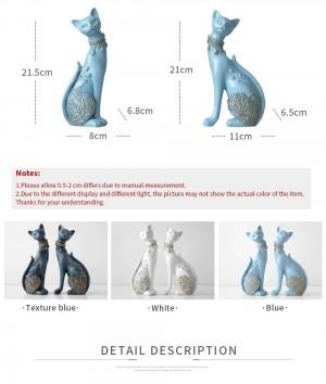 Statua di resina decorativa di gatto figurine per decorazioni per la casa Creativo europeo regalo di nozze Figurine animali scultura decorazioni per la casa