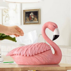 Flamingo Statua decorazione per casa ristorante ristorante portafazzoletti da tavolo ornamenti in resina scatola decorativa per tessuti