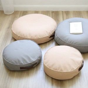 Cuscino per seduta da terra Poggiapiedi Janpanese Seduta rotonda Divano Pouf Poggiapiedi Poggiapiedi Passo Sgabello Cuscino per bambini Dimensioni adulti 40 cm / 60 cm