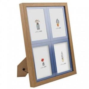 Quattro foto incorniciate 5 pollici 6 pollici 7 pollici per bambini Siamese cornice per bambini grano di legno cornice per foto parete combinazione versione coreana di t