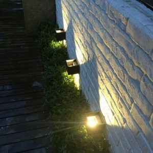Lampada da parete a LED da 6 W Cubo a parete Kung Applique a LED Lampada da parete in stile nordico Lampada da giardino con portico