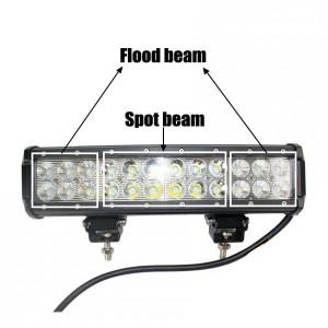 72W LED Work Light Bar 24 X 3w led chip Flood Spot Fascio Spotlight Offroad Light Bar Misura luce esterna ATV