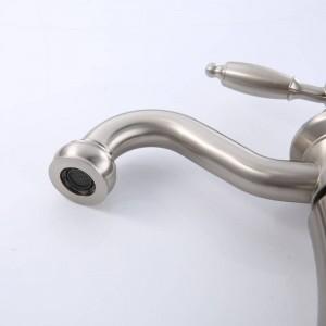Filo classico moderno in nichel che disegna l'ultima lampada per lavabo acqua calda e fredda LAD-406
