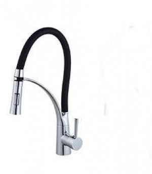 rubinetto da cucina girevole in ottone lucido cromo / verde lucido rubinetto da cucina con doccetta LAD-49