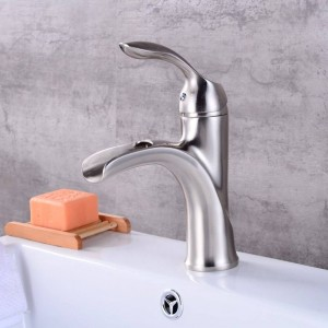Nuovo design rubinetto in ottone antico Rubinetto per bagno in nichel spazzolato rubinetto per lavabo nero e cromato LAD-403