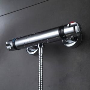 Set rubinetto doccia Bagno termostatico rubinetto finitura cromata miscelatore con doccia palmare a parete XT328