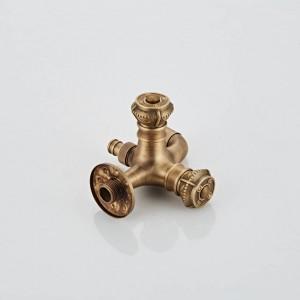 Rubinetti per lavatrice a parete con doppio comando a croce Rubinetti per piscina in mop in ottone antico XSQ1-19