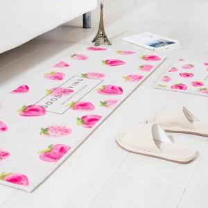 Modello di frutta MAT Cuscino quadrato Cuscinetto per porta della cucina Bagno Antiscivolo Rimuovere la polvere Tappetini Tavolo Tappeto Biancheria da letto Tappeti anguria