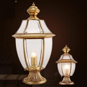 Lampione da giardino Illuminazione per esterni per esterni Lampada da parete impermeabile Lampada da parete stradale E27 Lampada da parete in rame