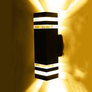 Lampada da parete a led da esterno impermeabile da giardino Lampada da parete a led aliminum di ingegneria Luce per cancello di illuminazione per cortile semplice all'aperto