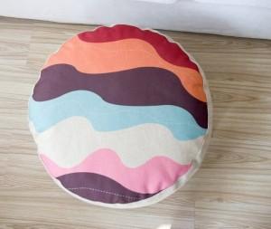 Fantasie geometriche Cuscino scozzese colorato Cuscino in lino stile pigro meditazione Almohada futon tatami Cuscini per divani piccoli 15 cm di spessore