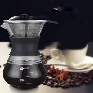 Macchina per caffè espresso portatile con bollitore per caffè espresso in vetro espresso con filtro in acciaio inossidabile