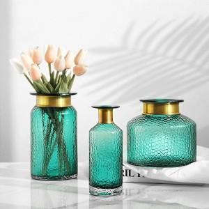Decorazione domestica idroponica del desktop del fiore secco idroponico della decorazione del vaso di vetro