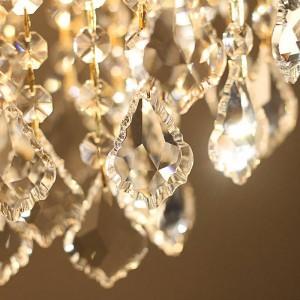 Oro 1 pz portico luce Sala da pranzo sala da pranzo Mini lampada a sospensione in cristallo Led Mar Mediterraneo E27 Illuminazione da cucina in cristallo di ferro