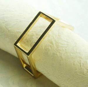 portatovagliolo in metallo dorato, porta tovagliolo per matrimonio, 24 pezzi