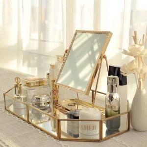 Specchio dorato Specchio da principessa Specchio rosso Specchio di bellezza da inviare a una ragazza