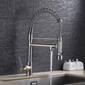 Oro europeo moderno rubinetto della cucina multifunzionale serbatoio di acqua calda e fredda americano rubinetto a molla ciotola di verdure rubinetto LAD-1