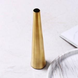 Vaso dorato Disposizione dei fiori creativa Vaso a secco Decorazione per la casa Decorazione Morbida decorazione Arredamento