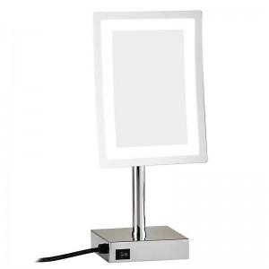 LED Make up specchio regolabile da banco 3X Magnifier Tavolo Specchio per trucco cosmetico LED 2239D