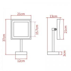 Specchio per trucco a LED Specchio per illuminazione a specchio 3X Specchio cosmetico regolabile da banco ingrandimento cosmetico 2205DORB